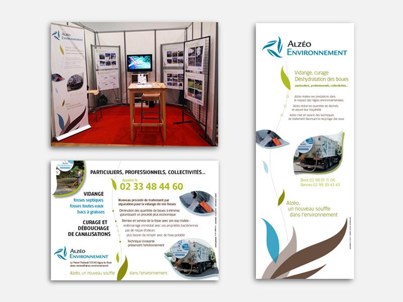 stand alzéo environnement flyer